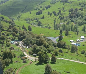 4. Filming at Hobbit location shoot Denize Bluffs Mangaotaki Valley Piopio