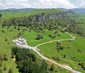 5. Filming at Hobbit location shoot Denize Bluffs Mangaotaki Valley Piopio