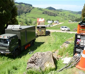 12. Truck generators used to film The Hobbit at Piopio