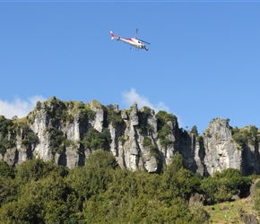 13. Aerial unit shooting at Denize Bluffs