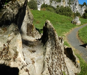 Amazing rock formations at Piopio Hobbit film site