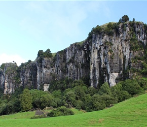 Denize Bluffs 90 metre high limestone cliffs