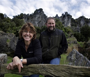 Owners of Hairy Feet Waitomo Suzie  Warrick Denize Photo Waikato Times
