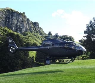Helicorp delivering guests to Hairy Feet Waitomo