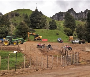 2. Local contractors start work at Piopio for Hobbit filming
