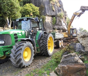 5. Heavy machinery working at Denize Bluffs before Hobbit filming