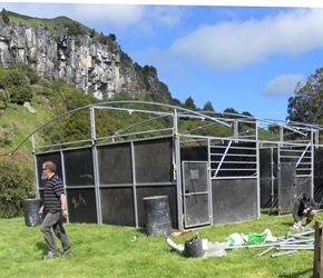 7. Portable horse stables for Hobbit horses on Mangaotaki Piopio film site
