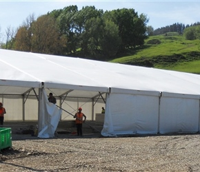 16. Unit Base marquee  catering to 500 Hobbit cast and crew Denize Bluffs Mangaotaki Piopio