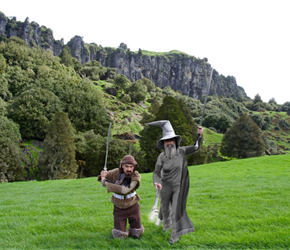 Bofur  Gandalf visit Hairy Feet Waitomo