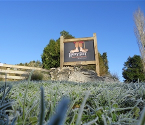 frosty winter morning at Piopio Hobbit film site near Waitomo