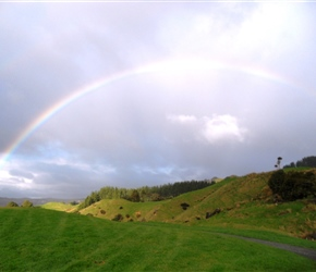rainbow over Hobbit film site Piopio