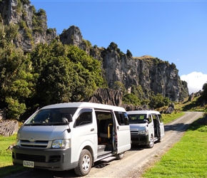 Take a short van ride to see the Hobbit film location Piopio 2